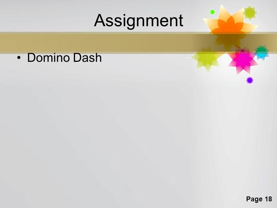 Assignment Domino Dash