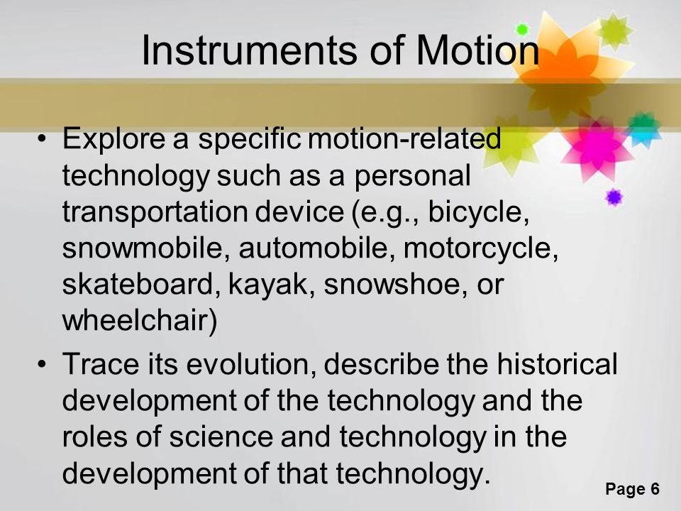 Instruments of Motion