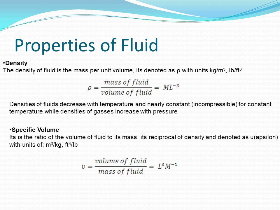 Properties of Fluid Density
