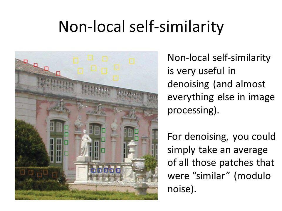 Non-local self-similarity