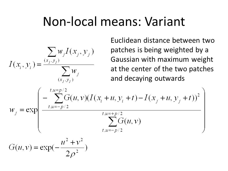 Non-local means: Variant