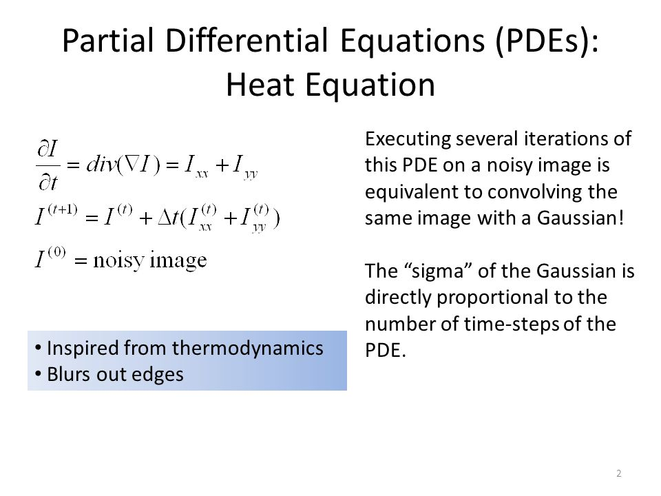 Partial Differential Equations (PDEs): Heat Equation