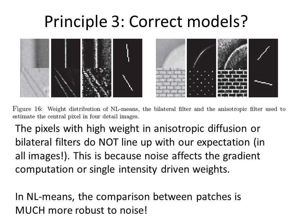 Principle 3: Correct models