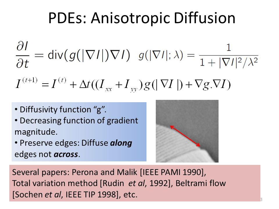 PDEs: Anisotropic Diffusion
