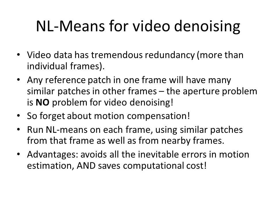 NL-Means for video denoising