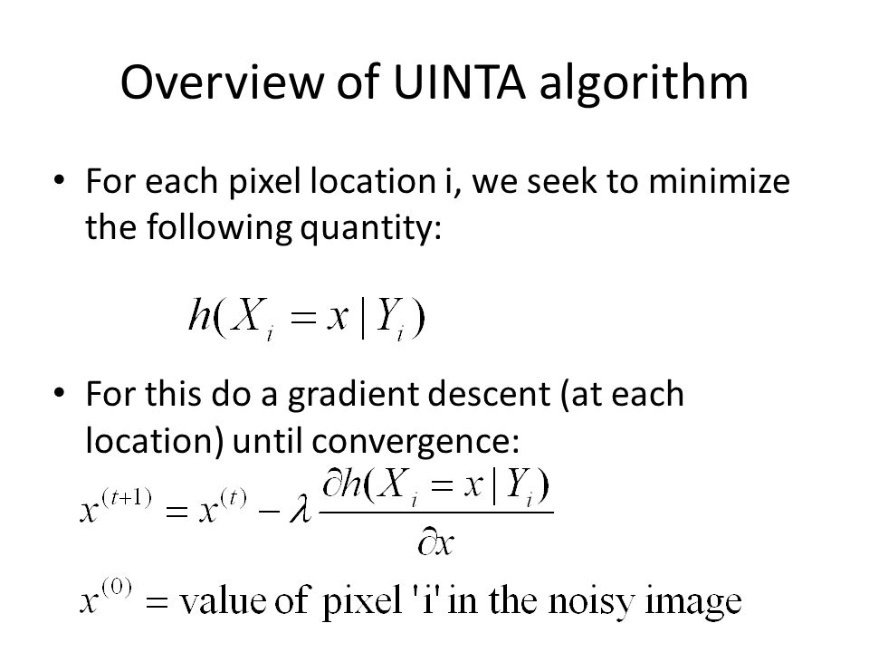 Overview of UINTA algorithm