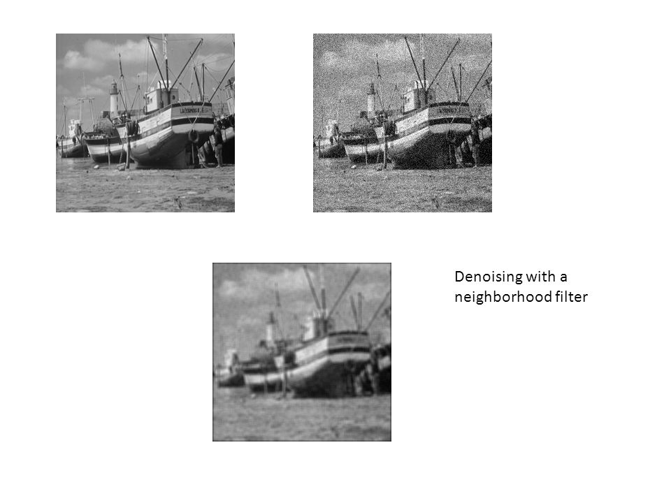 Denoising with a neighborhood filter