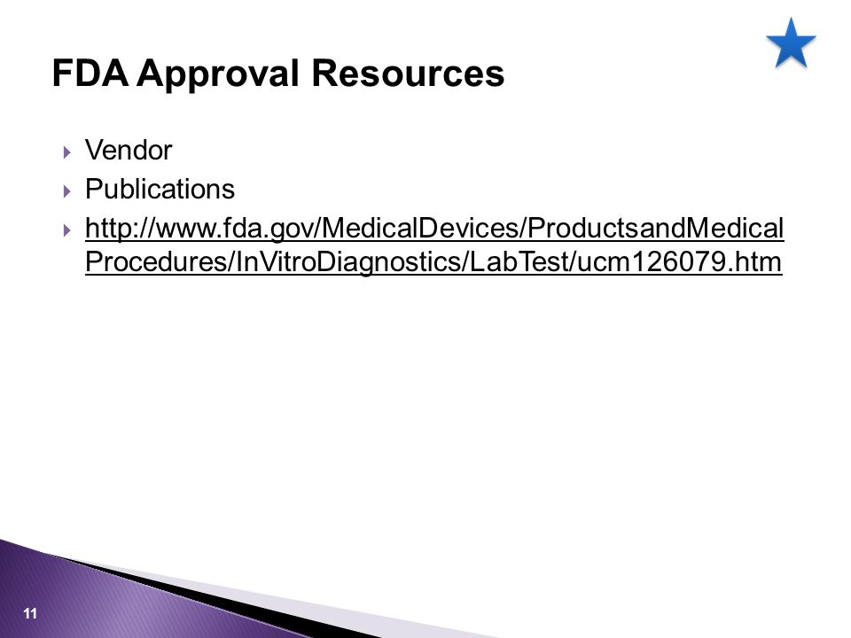 FDA Approval Resources