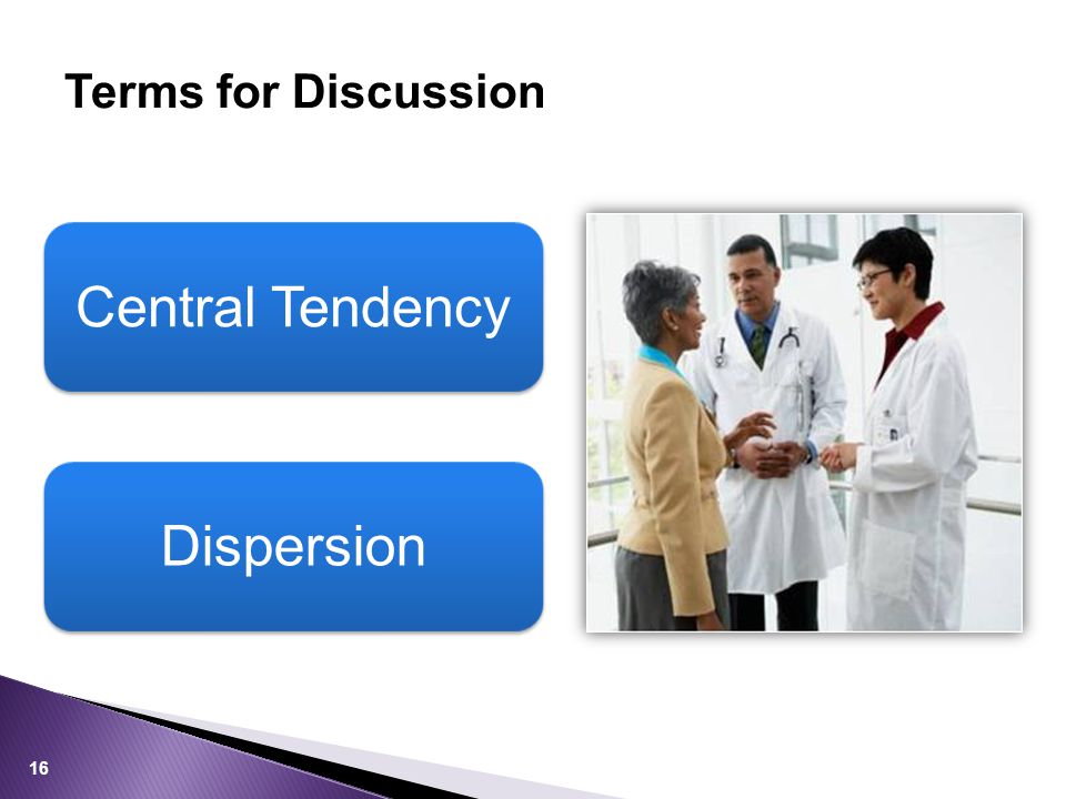 Central Tendency Dispersion Terms for Discussion