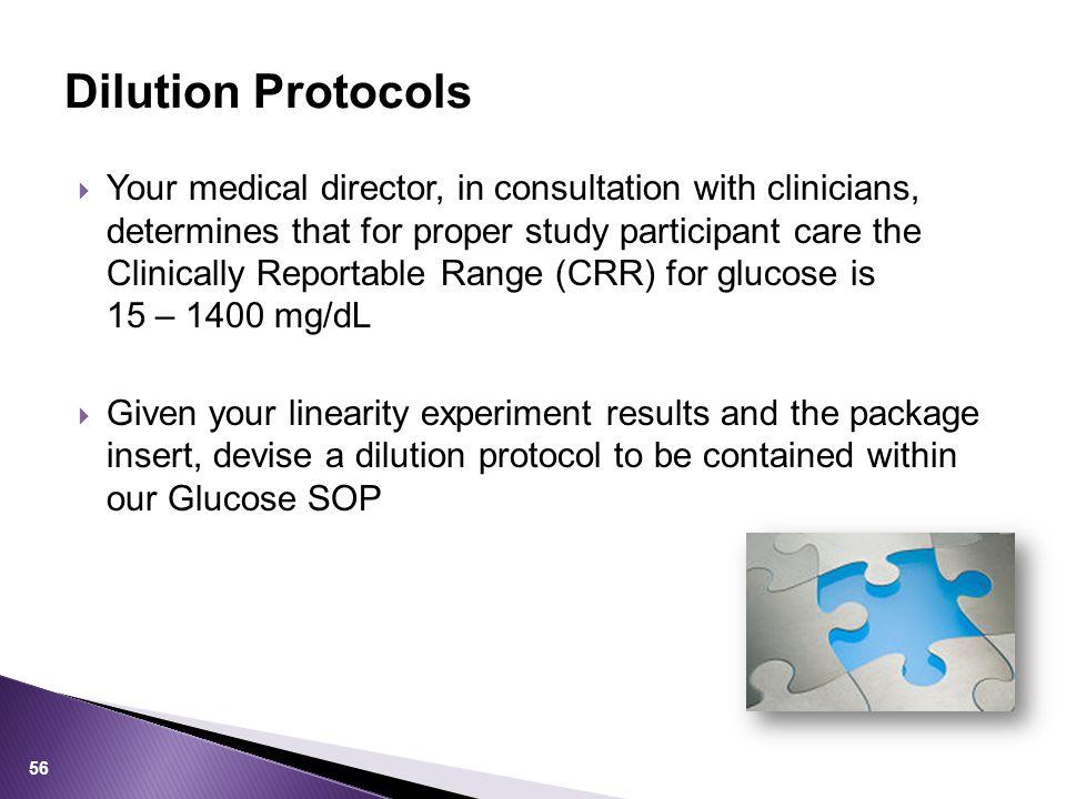 Dilution Protocols