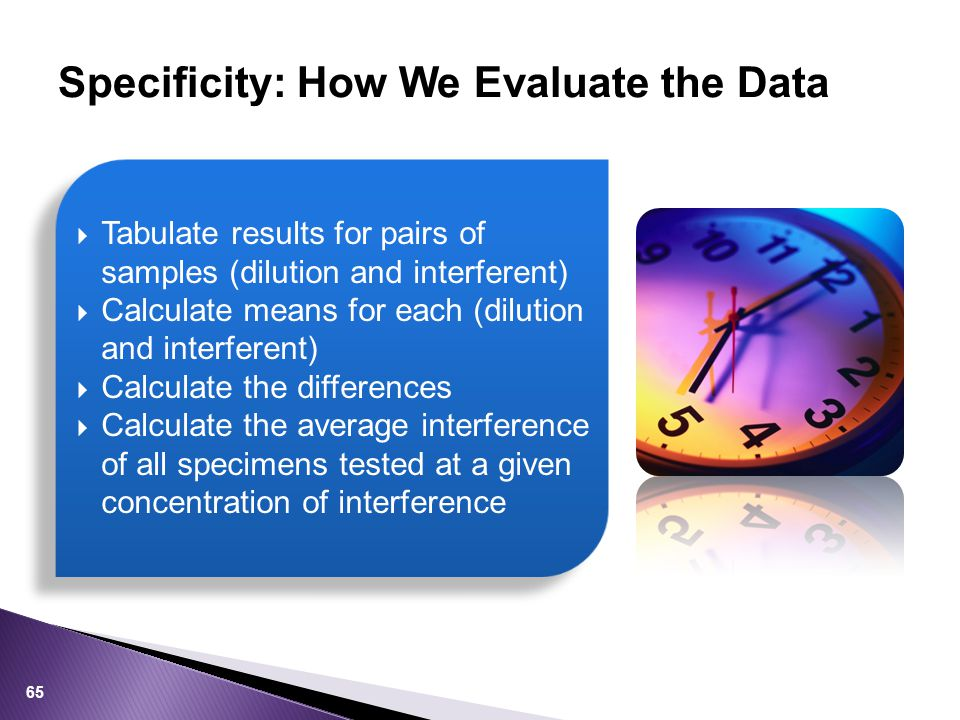 Specificity: How We Evaluate the Data
