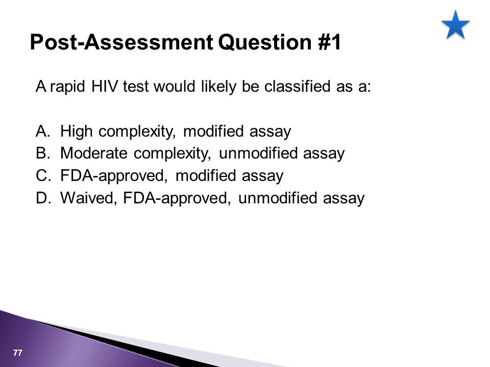 Post-Assessment Question #1