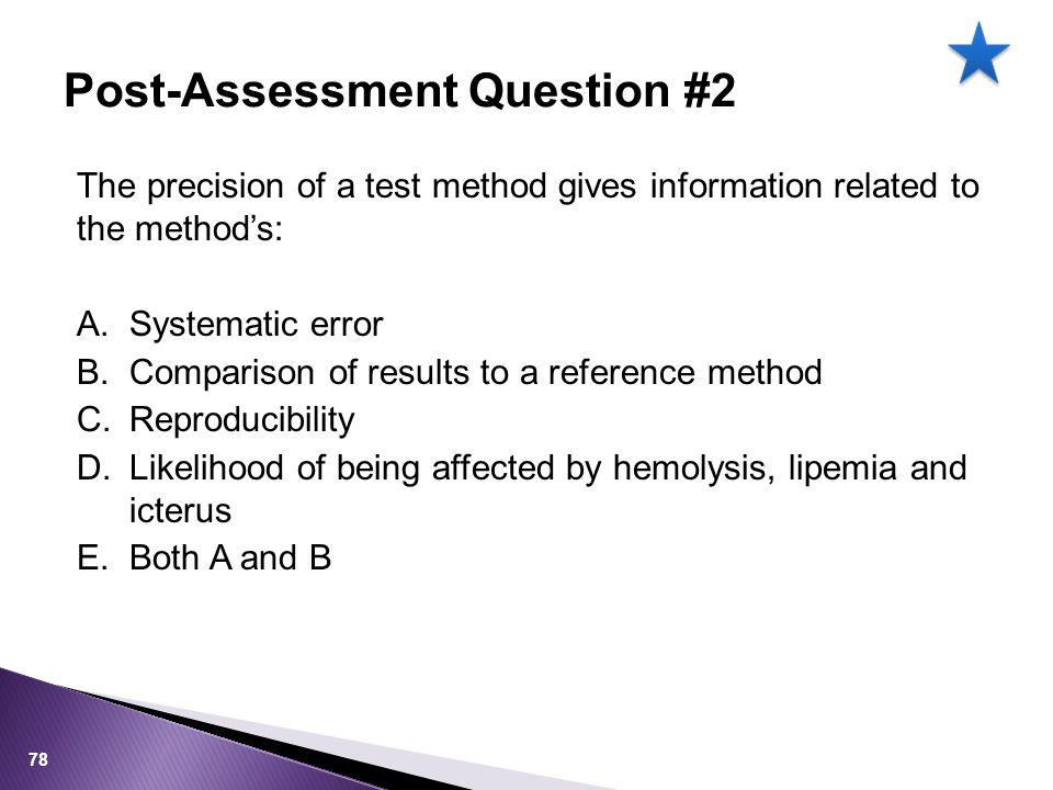 Post-Assessment Question #2