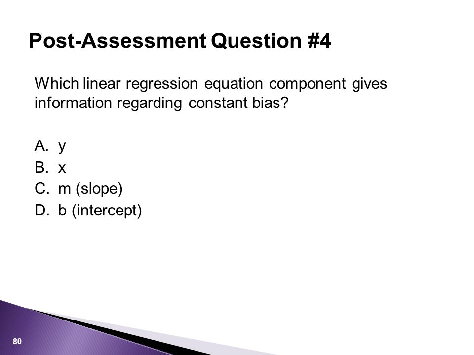 Post-Assessment Question #4