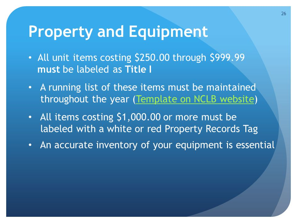 Property and Equipment