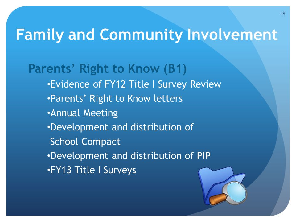 Family and Community Involvement