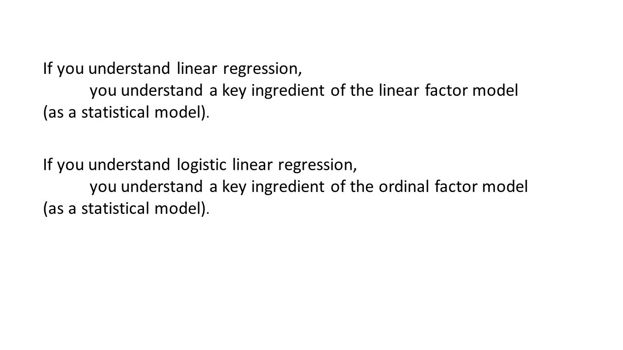 If you understand linear regression,