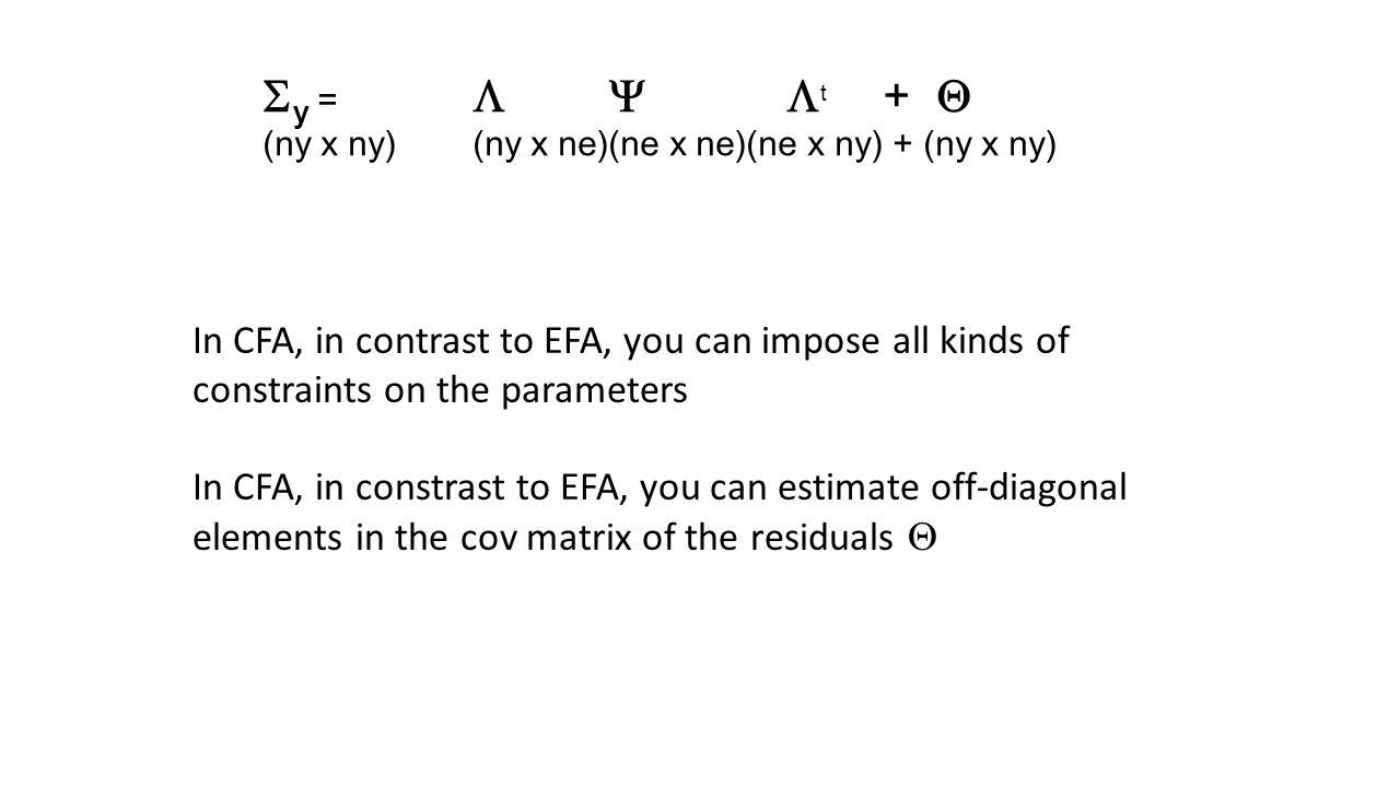 Sy =  Y t + Q (ny x ny) (ny x ne)(ne x ne)(ne x ny) + (ny x ny)