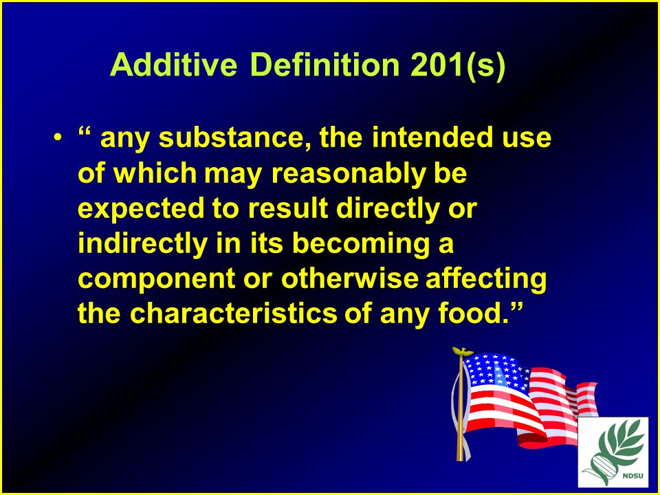 Additive Definition 201(s)