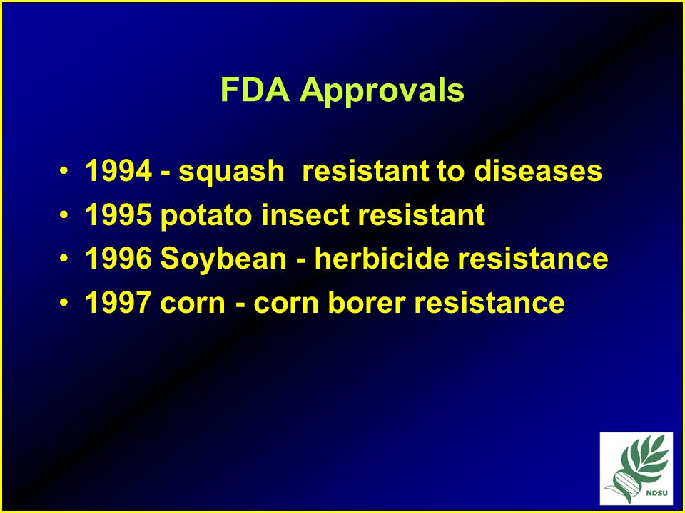 FDA Approvals squash resistant to diseases