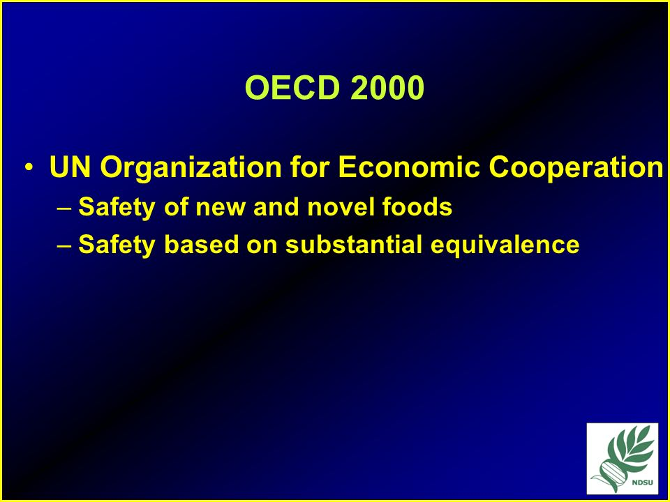 OECD 2000 UN Organization for Economic Cooperation