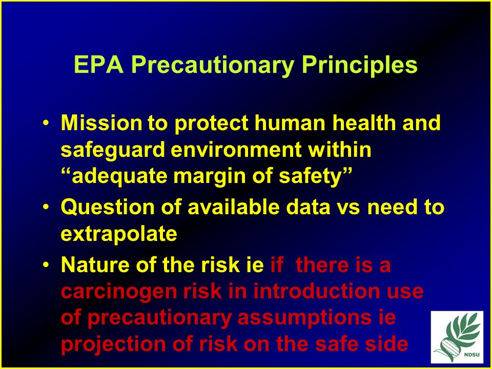 EPA Precautionary Principles