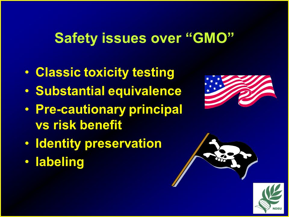 Safety issues over GMO