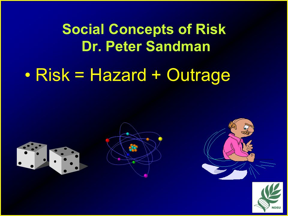 Social Concepts of Risk Dr. Peter Sandman