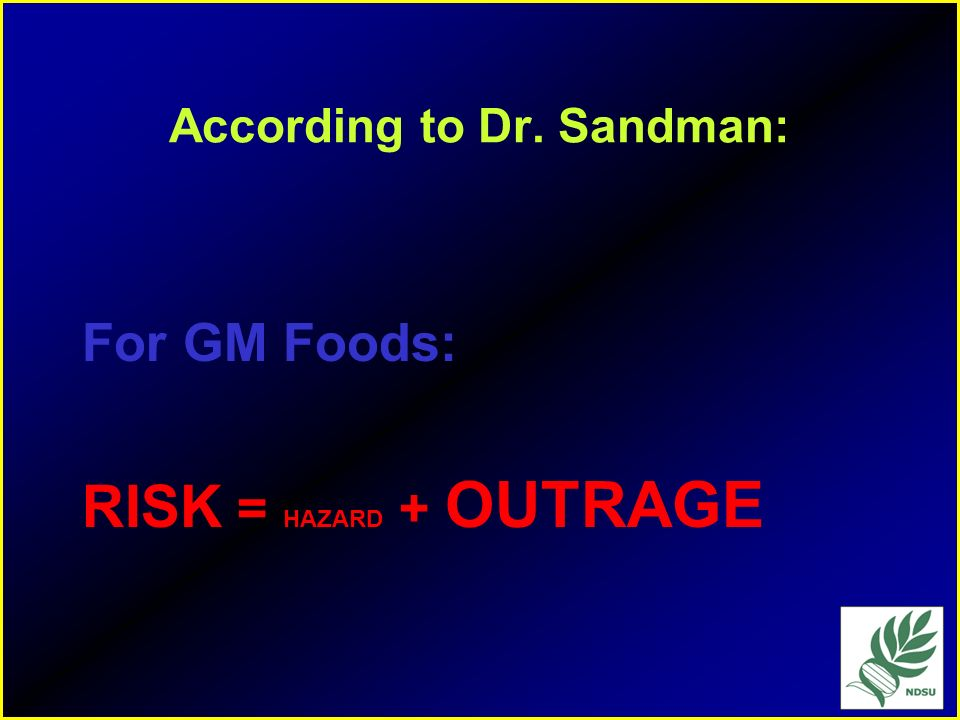 According to Dr. Sandman: