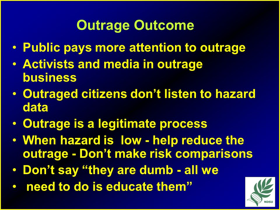 Outrage Outcome Public pays more attention to outrage