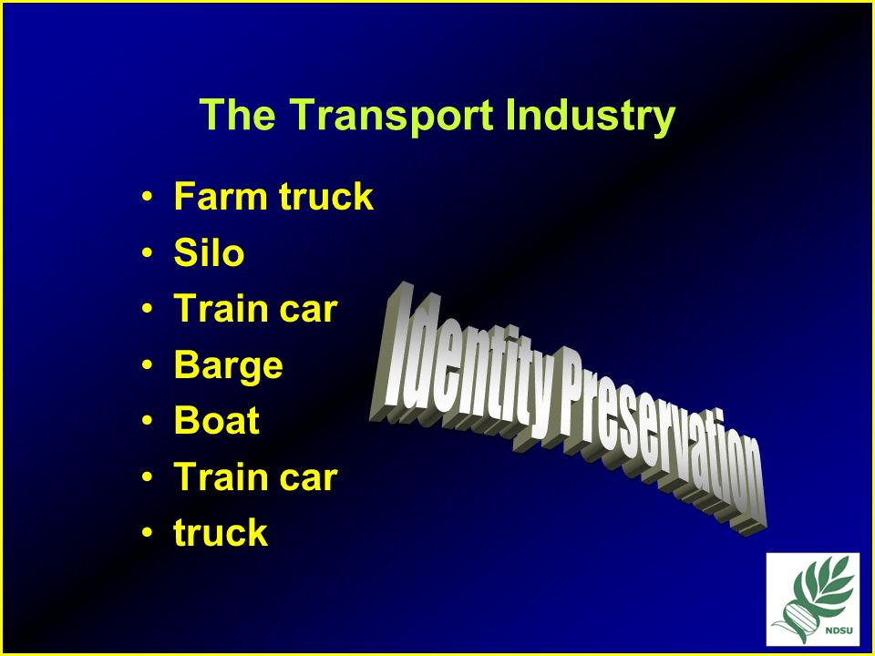 The Transport Industry