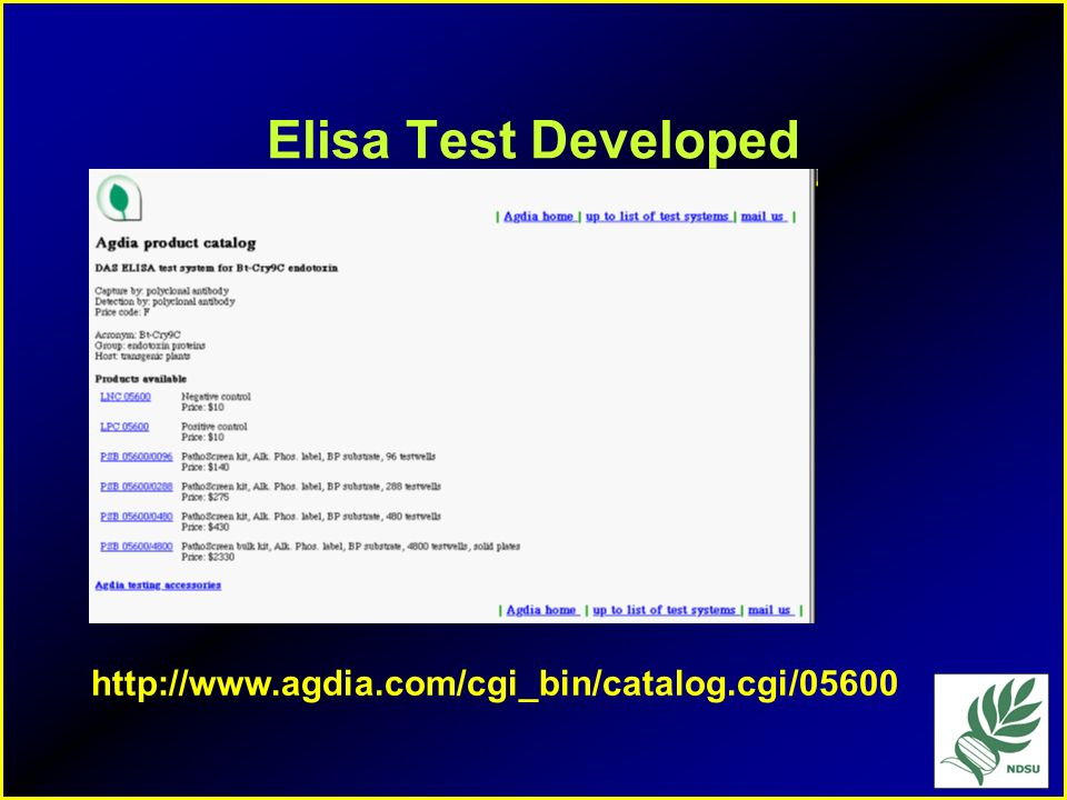 Elisa Test Developed