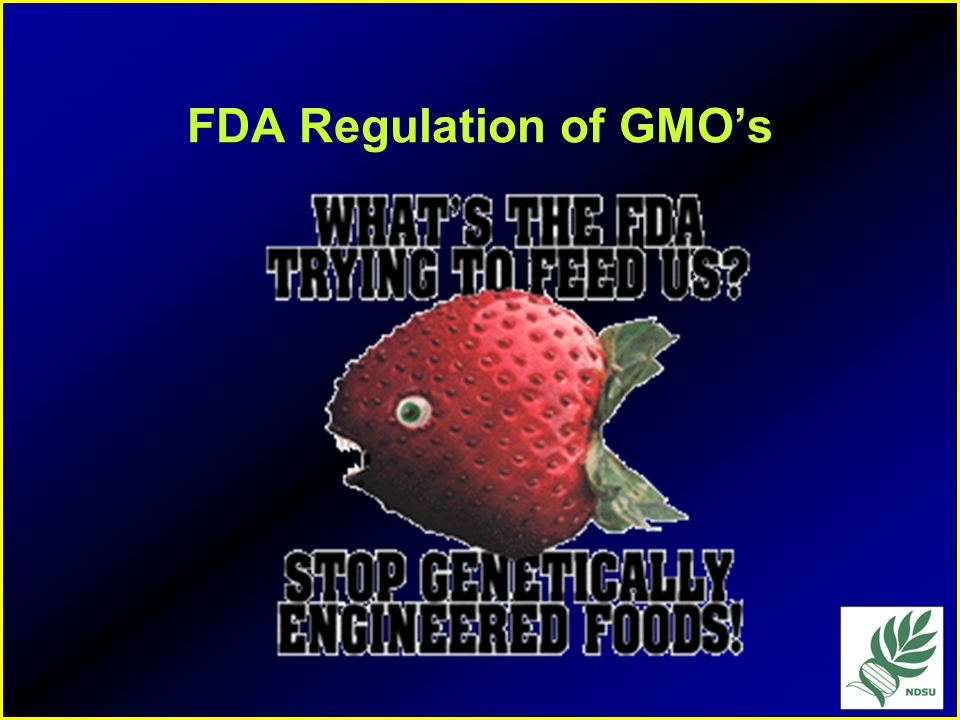 FDA Regulation of GMO's
