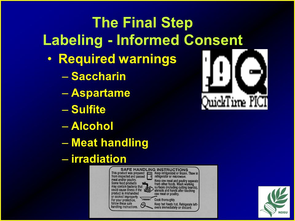 The Final Step Labeling - Informed Consent