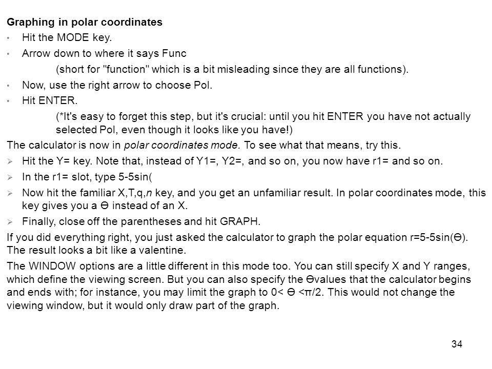 Graphing in polar coordinates