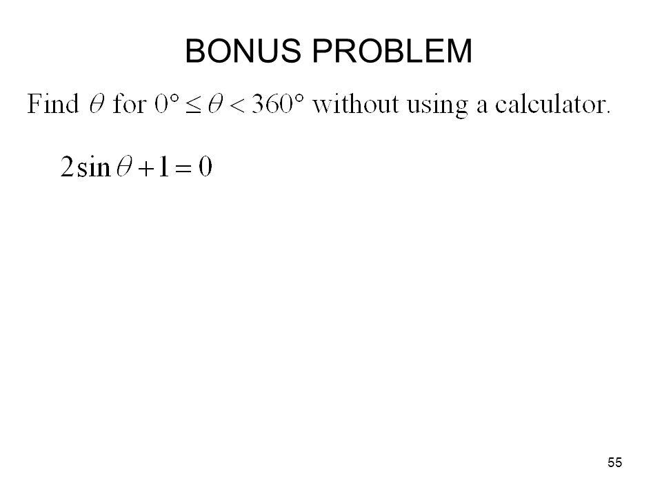 BONUS PROBLEM
