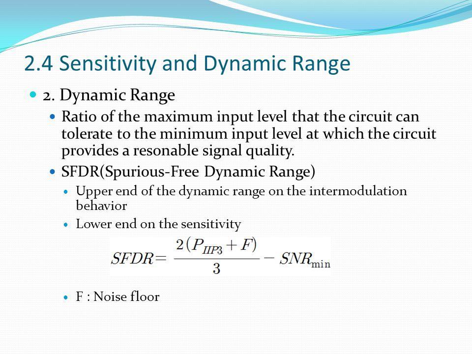 2.4 Sensitivity and Dynamic Range