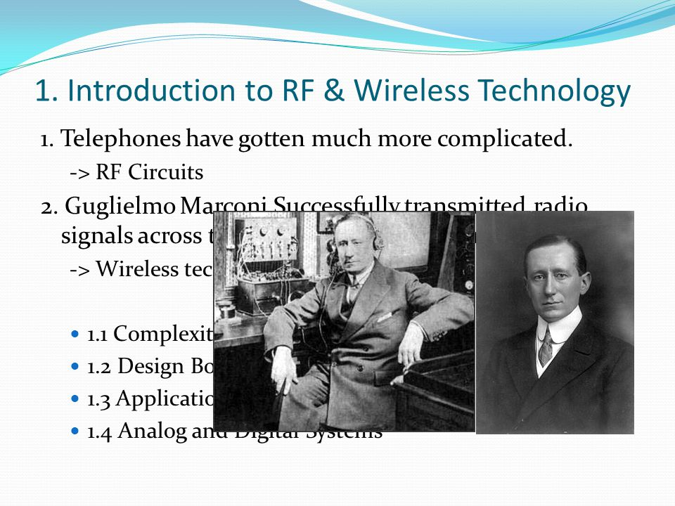 1. Introduction to RF & Wireless Technology