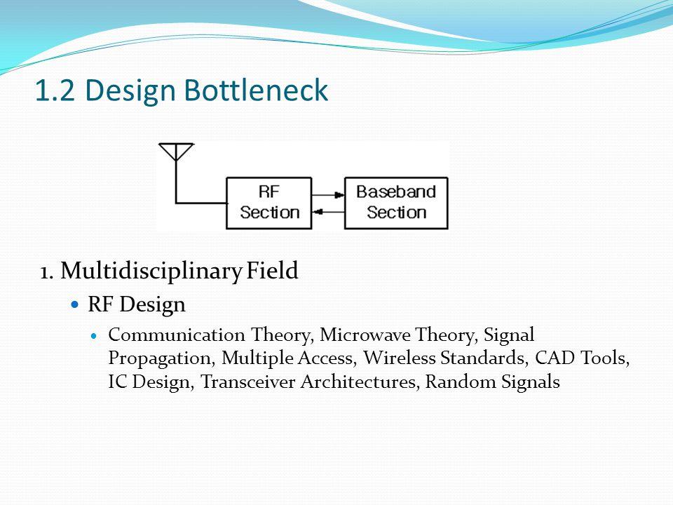 1.2 Design Bottleneck 1. Multidisciplinary Field RF Design