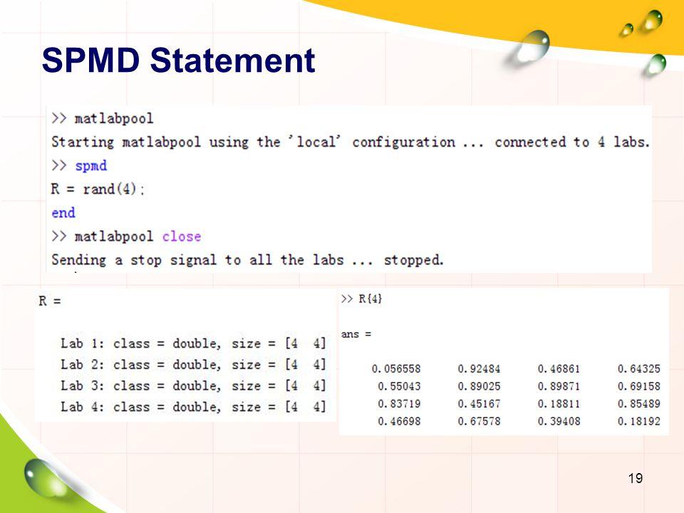 SPMD Statement