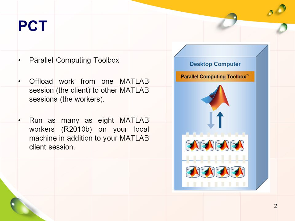 PCT Parallel Computing Toolbox