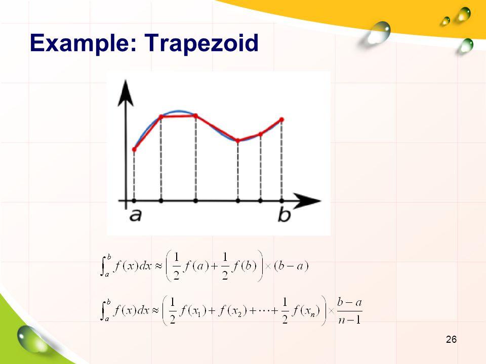 Example: Trapezoid Trapezoid: 梯形