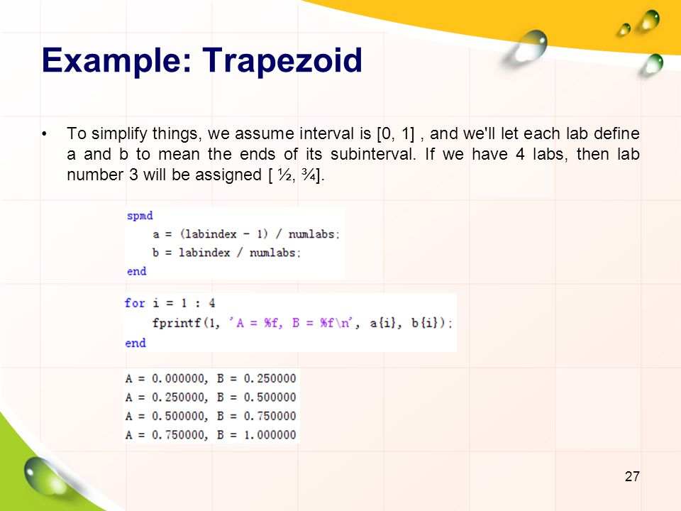Example: Trapezoid