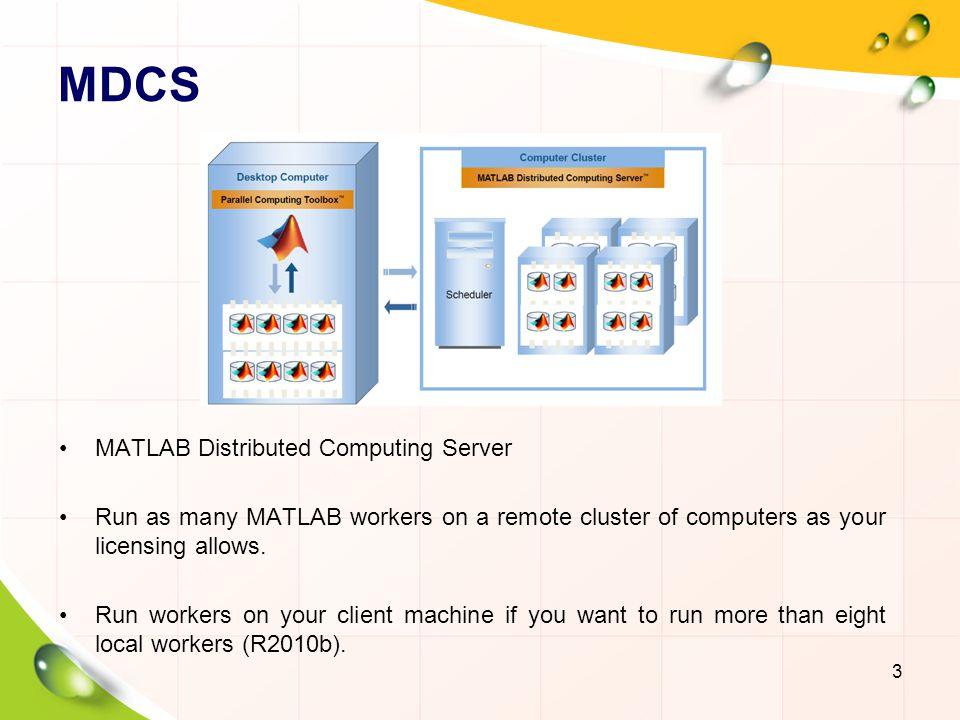 MDCS MATLAB Distributed Computing Server