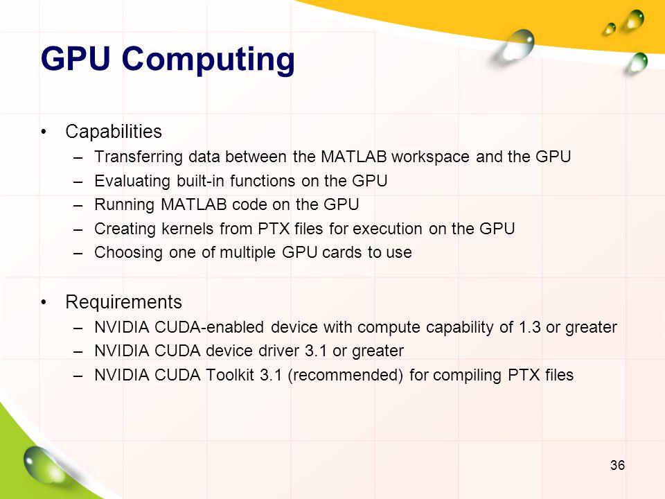 GPU Computing Capabilities Requirements