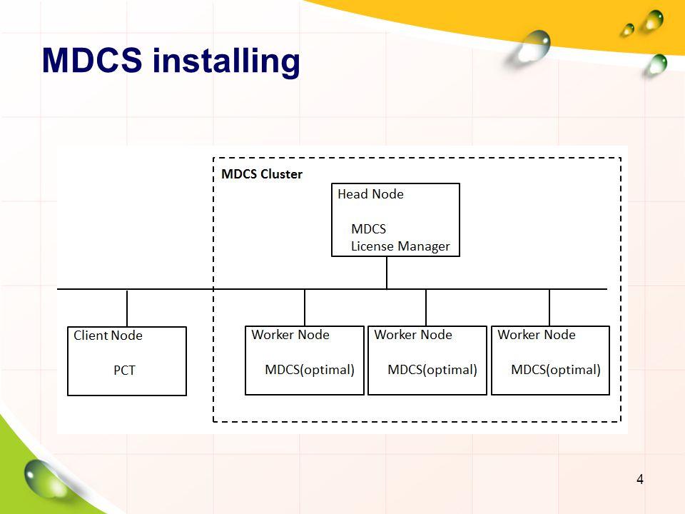 MDCS installing