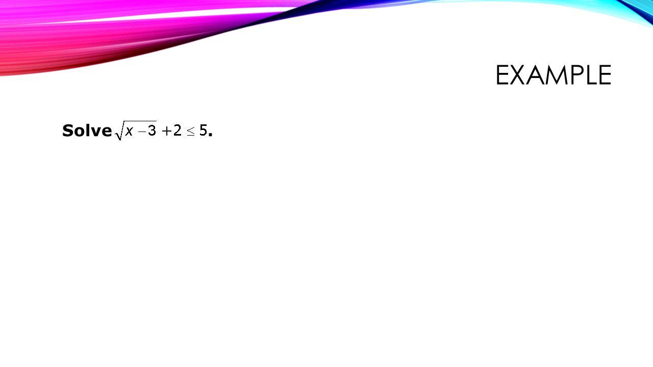 example Solve .