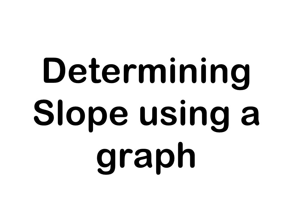 Determining Slope using a graph