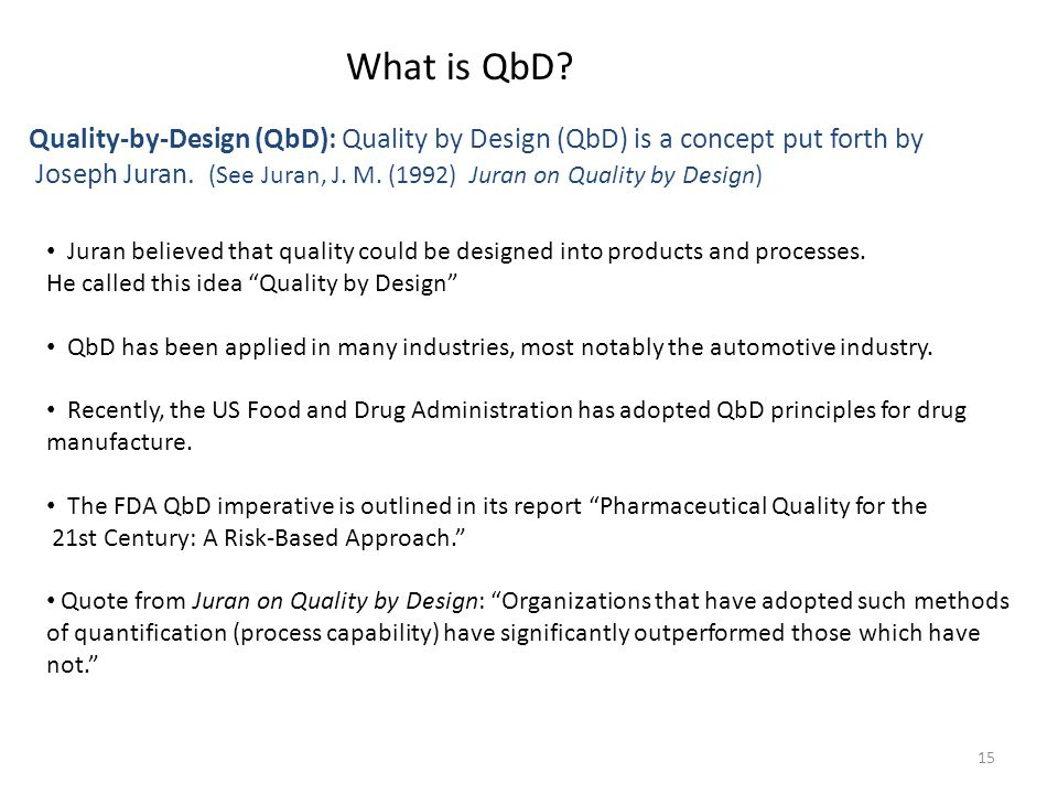What is QbD