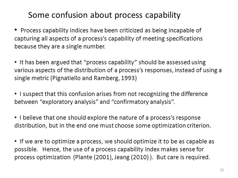 Some confusion about process capability